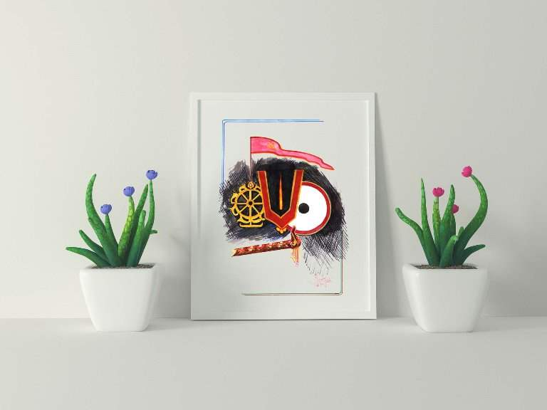 Jagannath – Abstract Art, Digital File, Instant Download Printable Art