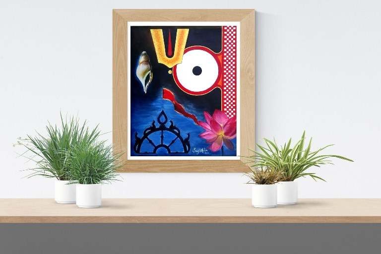 Lord Jagannath – Original Acrylic Painting – 20 x 24 inch