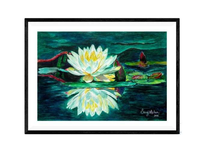 Water Lily – Original Watercolour Painting – 12 X 16 inch